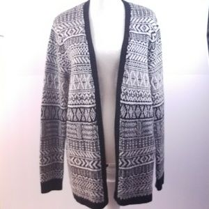 Merona Cardigan, Size XL, Black & Gray